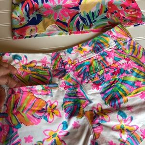 Lilly Pulitzer Shorts - Lilly Pulitzer top and bottom Sz xsmall